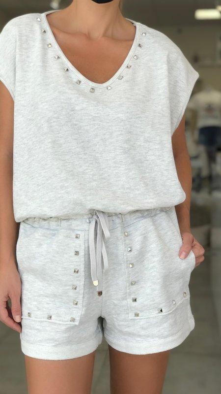Hanzel Studded Top & Shorts Set