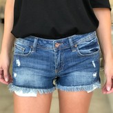 Wendy Distressed Shorts With Raw Fray Hem