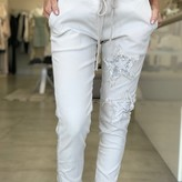 Side Stripe Star Sequin Jogger