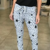 Benji Leopard with Star Detail Jogger