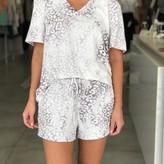 Cora Tie-Dye Leopard Print Shorts