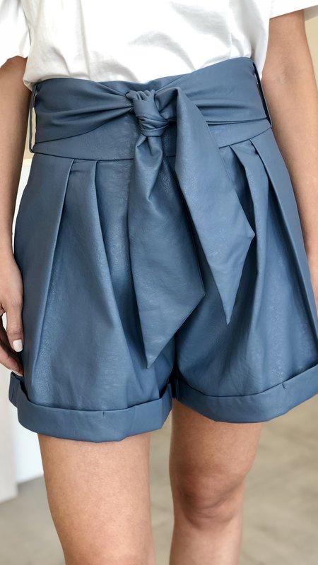 London Vegan Leather Shorts