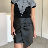 Arya Faux Leather Twisted Skirt