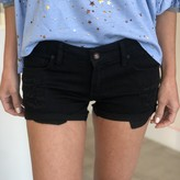 Hanna Distressed Low Rise Cuffed Shorts