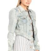 Abby Women's Crop Denim Jacket