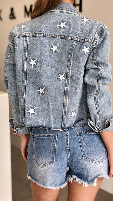 Collins Denim Star Detail Jacket