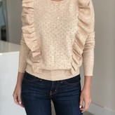 Daniela Ruffle Detail Pointelle Sweater
