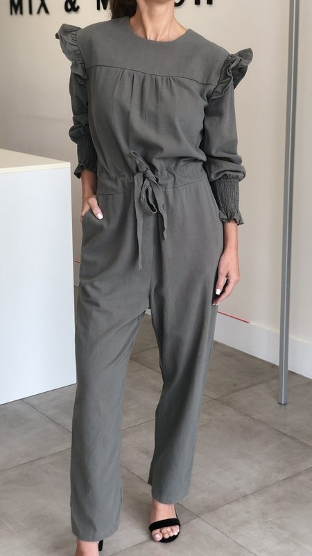 Kailani Long Sleeve Ruffled Jumpsuit