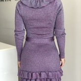 Felicity Knitted Long-Sleeve Ruffle Dress