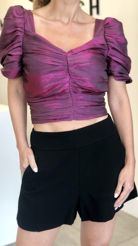 Bexley Ruched Crop Top
