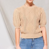 Celine Puff Sleeve Cable Knit