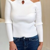 Blair Cross Neck Cut-Out Ribbed Top