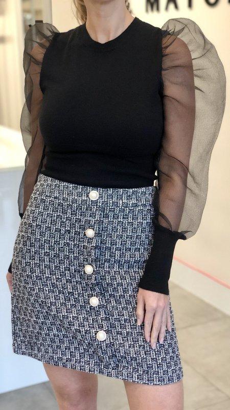 Norene Organza Sleeve knit Top