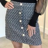 Mimi Pearl Detail Tweed Skirt