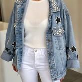 Anika Pearl Star Detail Denim Jacket