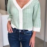 Nele Gingham Sweater Top