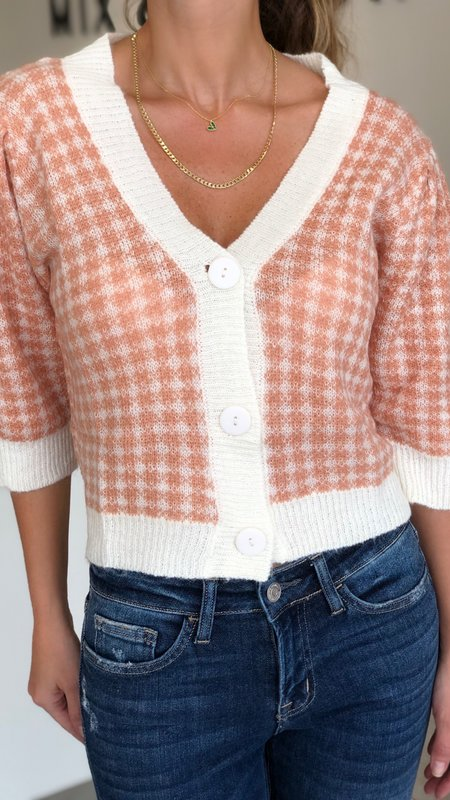 Khora Gingham Sweater Top