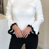 Brendie Long Sleeve Frill Trim Knit
