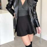 Camille Puff Sleeve Leather Blazer