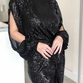 Jade Sequin Long Sleeve Blouse