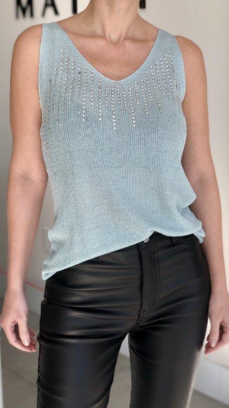 Nela Embellished Sparkly Top