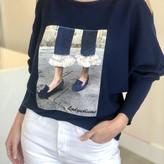Juno Open Shoulder Rhinestones Sweater