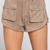Amanda Suede Shorts With Front Pockets