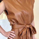 Daisy Vegan Leather Belted Dress