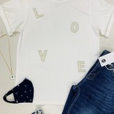 Love Pearl Detail Graphic Tee