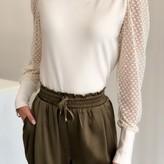 Dina Lace Sleeve Knit