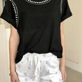 Sandy T-Shirt With Rhinestones Embellishments
