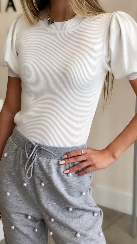 Nora Puff Sleeve Knit