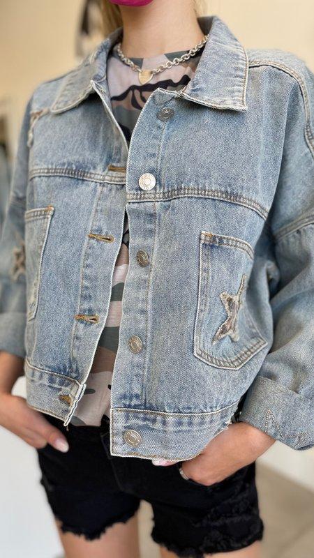 Zuri Star Detail Denim Jacket