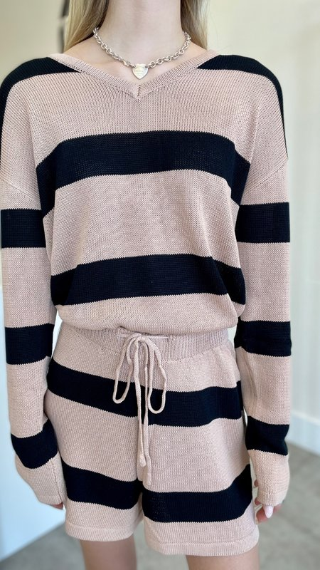 Finley Stripe Loungewear Set ( 2 pieces)