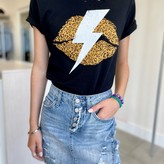 Kendall Lips with Thunderbolt T-shirt