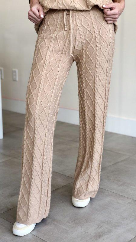 Romina Twist Pattern Knit Pants