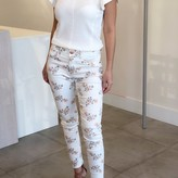 Zola Floral High Rise Skinny Ankle Pants