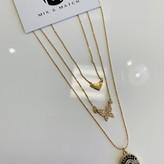 Mavela Charms Necklace Set