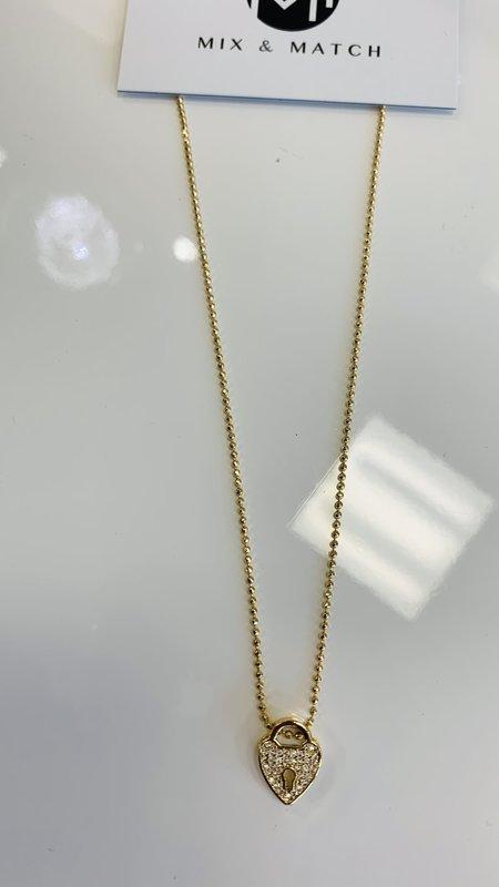 Hearth Lock  Necklace