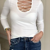 Emery Criss-Cross Ribbed Top