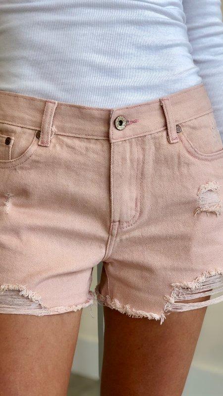 Molly Distressed Denim Shorts