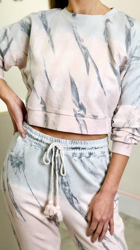 Ariel Pastel Tie-Dye Crop Sweater