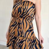 Cocoa Strapless Midi Dress