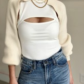Myrtle High Neck Crop Sweater Sleeves
