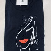 Red Lips Hand Painted Graphic Tee