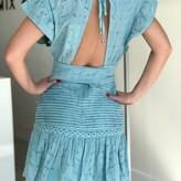 Karol Pintuck Detail Dress with Ruffle Trim