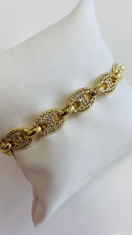 Gucci Chain Pave Diamond Bracelet