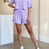 Amanda CropTop & Ruffle Hem Short Set