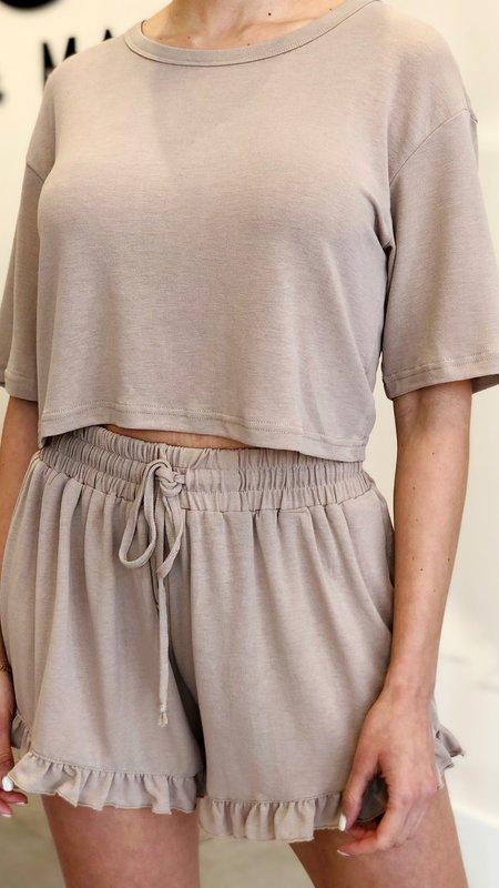 Orly Crop Top & Ruffle Hem Shorts Set