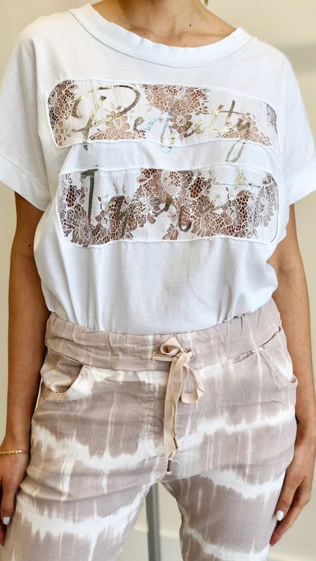 Perfectly Imperfect  Lace Detail Top